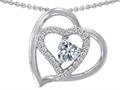 Original Star K™ Heart Shape 6mm White Topaz Heart Pendant