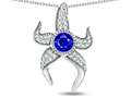 "Original Star K™ Round 6mm Created Sapphire ""Star Fish"" Pendant"
