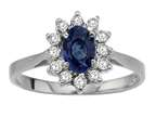Tommaso Design Oval 7x5mm Genuine Sapphire and Diamond Ring Style number: 21262