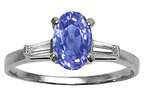 Tommaso Design Oval 7x5 mm Genuine Tanzanite and Diamond Engagement Ring Style number: 21610