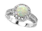 Original Star K Genuine 7mm Round Opal Ring Style number: 27156