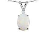 Tommaso Design Oval 7x5mm Genuine Opal Pendant Style number: 301520