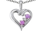 Tommaso Design Genuine Pink Sapphire Heart Pendant Style number: 301858