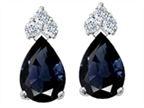 Tommaso Design Genuine Sapphire and Diamond Earrings Style number: 302346