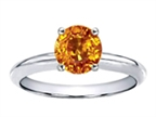 Tommaso Design Round 7mm Genuine Citrine Solitaire Engagement Ring Style number: 302542