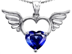 Original Star K Wings Of Love Birthstone Pendant with 8mm Heart Shape Created Sapphire Style number: 303442