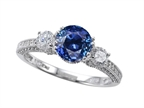 Original Star K 7mm Round Created Sapphire Engagement Ring Style number: 304057