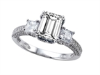 Original Star K 8x6mm Emerald Cut White Topaz Engagement Ring Style number: 304063