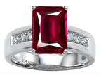 Star K Classic Octagon Emerald Cut 9x7 Ring With Created Ruby Style number: 305551