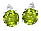 Original Star K Round 7mm Simulated Peridot Earrings Studs Style number: 305867