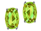 Tommaso Design Checkerboard Cushion Cut Genuine Peridot Earrings Style number: 305968