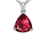 Original Star K Large 12mm Trillion Cut Created Ruby Pendant Style number: 306003