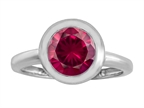 Original Star K 8mm Round Solitaire Engagement Ring With Created Ruby Style number: 306886