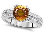 Original Star K Round 7mm Genuine Citrine Engagement Wedding Ring Style number: 307601