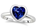 Tommaso Design 7mm Heart Shape Created Sapphire Engagement Solitaire Ring Style number: 307636