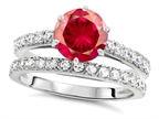 Original Star K Round 7mm Created Ruby Engagement Wedding Ring Style number: 307701