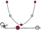Original Star K 18 Inch Gems By The Yard Necklace With Cubic Zirconia And Created Ruby Style number: 308065