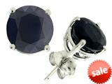 Tommaso Design™ 7mm Round Black Sapphire Earrings Studs style: 21723