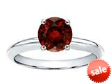 Tommaso Design™ 7mm Round Genuine Garnet Solitaire Engagement Ring style: 22485