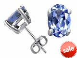 Tommaso Design™ Oval 7x5mm Genuine Tanzanite Earrings style: 22726
