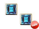 Tommaso Design™ Small Square Cut Genuine Blue Topaz Earrings style: 23276