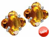 Tommaso Design™ Clover Cut Genuine Citrine Earrings