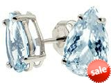 Tommaso Design™ Genuine Aquamarine 8x5mm Pear Shape Earrings
