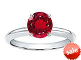 Tommaso Design™ 7mm Round Created Ruby Solitaire Engagement Ring