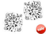 Tommaso Design™ Round 7mm Genuine White Topaz Earrings Studs style: 24806