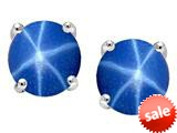 Tommaso Design™ Round Created Star Sapphire Earrings Studs style: 25364