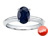 Tommaso Design™ Oval 8x6mm Genuine Sapphire Solitaire Engagement Ring