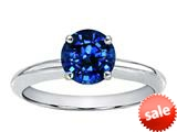 Tommaso Design™ 7mm Round Created Sapphire Solitaire Engagement Ring