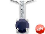 Original Star K™ Round 7mm Black Sapphire Pendant style: 25733