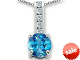 Original Star K™ Round 7mm Blue Topaz Pendant