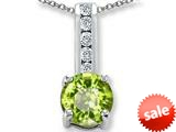 Original Star K™ Round 7mm Genuine Peridot Pendant