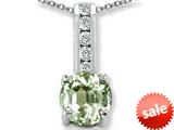 Original Star K™ Round 7mm Genuine Green Amethyst Pendant