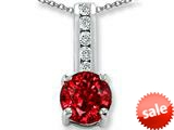 Original Star K™ Round 7mm Created Ruby Pendant style: 25744