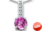 Original Star K™ Round 7mm Created Pink Sapphire Pendant style: 25746