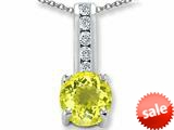 Original Star K™ Round 7mm Simulated Yellow Sapphire Pendant style: 25748