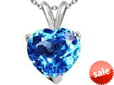 Tommaso Design™ 8mm Heart Shape Genuine Blue Topaz Heart Pendant