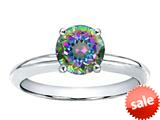 Tommaso Design™ Round 7mm Mystic Rainbow Topaz Solitaire Engagement Ring