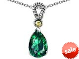 Original Star K™ Pear Shape 11x8mm Simulated Emerald Pendant style: 26121
