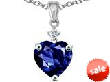 Original Star K™ 8mm Heart Shape Created Sapphire Pendant style: 26347