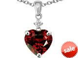 Original Star K™ Heart Shape 8mm Simulated Garnet Pendant style: 26359