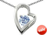 Original Star K™ 7mm Round Simulated Aquamarine Heart Pendant style: 26567