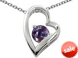 Original Star K™ 7mm Round Simulated Alexandrite Heart Pendant style: 26572