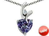 Original Star K™ Heart Shaped 8mm Simulated Alexandrite Pendant
