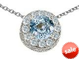 Original Star K™ Round 6mm Simulated Aquamarine Pendant style: 26878