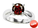 Original Star K™ Genuine 7mm Round Garnet Engagement Ring style: 26886