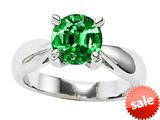Original Star K™ 7mm Round Simulated Emerald Engagement Ring